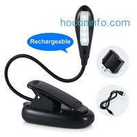 ihocon: Ledgle LED Rechargable Clip-on Reading Light 充電式閱讀燈