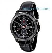 ihocon: Seiko 精工三眼計時皮帶男表 Chronograph Leather Men's Watch SKS439