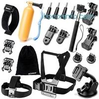 ihocon: Zookki Accessories Kit for GoPro Hero 5 4 3+ 3 2 1 SJ4000 SJ5000 Camera 運動相機配件