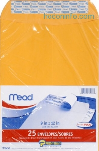 ihocon: Mead Envelopes, Press-It Seal-It, 9 x 12 Inches, 25 Per Pack