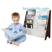 ihocon: HOMFA Kids Book Rack Storage Sling Bookshelf 兒童展式型書架