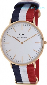 ihocon: Daniel Wellington Men's Cambridge 0103DW Multi Nylon Quartz Fashion Watch