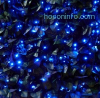 ihocon: 100 LED Solar Powered Blue Garden String Lights