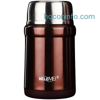 ihocon: HELME Thermos Stainless Steel Vacuum Lunch Jar with Folding Spoon(16 OZ)保温便當含折疊湯匙