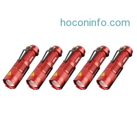 ihocon: Enjoydeal Min LED Adjustable Focus Zoomable Light Tactical Flashlight 5 Pack可調焦距迷你手電筒