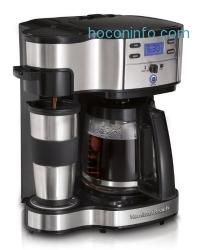 ihocon: Hamilton Beach 49980A Single Serve Coffee Brewer and Full Pot Coffee Maker, 2-Way