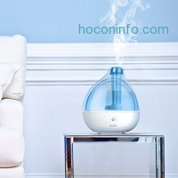 ihocon: Ultrasonic Cool Mist Humidifier - Premium Humidifying Unit with Whisper-quiet Operation, Automatic Shut-off, and Night Light Function