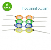 ihocon: 6-Pack: Clear Lens Adjustable Fit Swim Goggles蛙鏡
