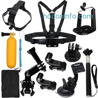 ihocon: LotFancy 12-in-1 Sports Accessories Kit Bundle Attachments for Gopro Hero 5 4 3+ 3 2 1 SJ4000 SJ5000 HD Action Video Cameras DVR