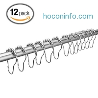 ihocon: Stainless Steel Shower Curtain Rings 12 Piece浴簾環