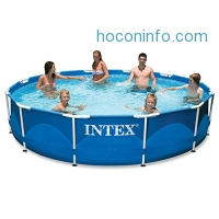 ihocon: Intex 12ft X 30in Metal Frame Pool Set with Filter Pump