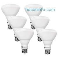 ihocon: 6-Pack LE BR30 10W LED Dimmable Bulbs (65W Equiv) 光線微調燈泡