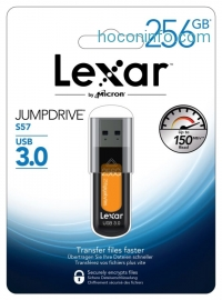 ihocon: Lexar JumpDrive 256GB USB 3.0  隨身碟/U盤 Flash Drive S57 LJDS57256AB