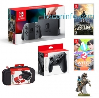 ihocon: Nintendo Switch™ with Gray Joy-Con™ Starter Bundle