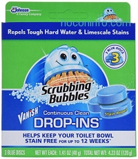 ihocon: Scrubbing Bubbles Vanish Continuous Clean Drop-Ins, 3 Count (Pack of 6)