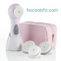 ihocon: True Glow by Conair Sonic Facial Skincare System; Pink; Amazon Exclusive Bonus Pack