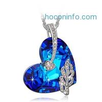 ihocon: LadyColour Legolas Heart Heart Pendant Necklace Made With Swarovski Crystals