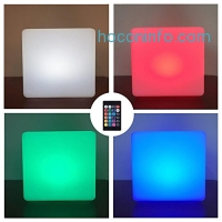 ihocon: LOFTEK Rechargeable Color Changing LED Cube Light with Remote Control (Cube 8)遙控變色燈