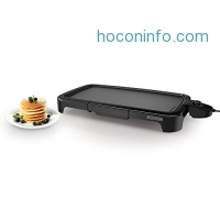ihocon: BLACK+DECKER GD2011B Family Sized Electric Griddle, 20 x 11-Inch, Black