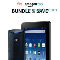 """ihocon: Fire Tablet, 7"""" Display, 16 GB - includes Special Offers + Amazon Tap – Alexa-Enabled Portable Bluetooth Speaker"""
