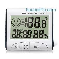 ihocon: Samshow Hygrometer Thermometer Alarm Clock温濕度顯示數位鬧鐘