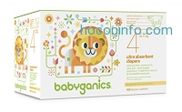 ihocon: Babyganics Ultra Absorbent Diapers Economy Pack, Size 4, 160 Count