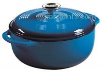 ihocon: Lodge EC4D33 Enameled Cast Iron Dutch Oven, 4.5-Quart, Caribbean Blue鑄鐵鍋