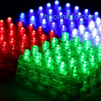 ihocon: Etekcity 100 Pcs Laser Rave Bright LED Finger Flashlights(Assorted Color)手指手電筒