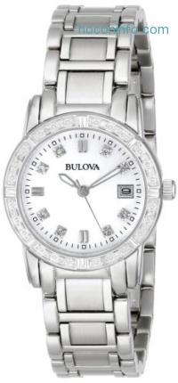 ihocon: Bulova女鑽錶 Women's 96R105 Diamond-Accented Watch