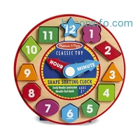 ihocon: Melissa & Doug Shape Sorting Clock - Wooden Educational Toy
