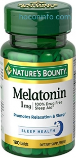 ihocon: Nature's Bounty Melatonin 1 mg, 180 Tablets褪黑素
