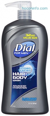 ihocon: Dial for Men Hair + Body Wash, Hydro Fresh, 32 Ounce