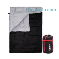 ihocon: Ohuhu Double Sleeping Bag with 2 Pillows and a Carrying Bag睡袋枕頭