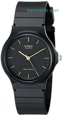ihocon: Casio Men's MQ24-1E Black Resin Watch