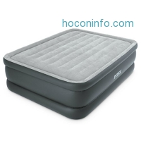 ihocon: Intex Dura-Beam Standard Series Essential Rest Airbed with Built-In Electric Pump, Bed Height 20, Queen