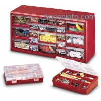 ihocon: Stack-On DS-22B 22-Drawer Storage Cabinet with 2-10 Compartment Storage Boxes