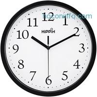 Hippih 10吋靜音壁鐘 $5.99(原價$29.99, 80% Off)