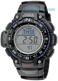 ihocon: Casio Men's SGW-1000-1ACR Triple Sensor Digital Display Quartz Black Watch