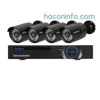 ihocon: Incosky 1080N AHD Video Security System 8CH DVR 4 2000TVL Weatherproof Cameras 65ft Night Vision 1TB HDD居家防盜系統