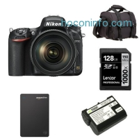 ihocon: Nikon D750 FX-Format DSLR Camera with 24-120mm Lens Deluxe Bundle
