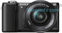 ihocon: Sony - Alpha a5000 Mirrorless Camera with 16-50mm Retractable Lens (Open Box)