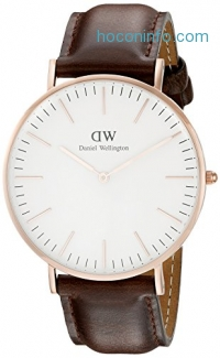 ihocon: Daniel Wellington Men's 0109DW Classic Bristol Stainless Steel Watch with Brown Strap