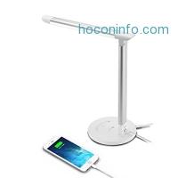 ihocon: TaoTronics 觸控5段光線微調LED桌燈+USB充電 Desk Lamp Eye-caring Table Lamp