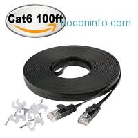 ihocon: Jadaol Cat 6 Flat Ethernet Cable 100 ft