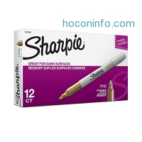 ihocon: Sharpie Metallic Permanent Markers, Fine Point, Gold, 12-Count