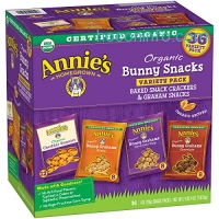 ihocon: Annie's Organic Variety Pack, Cheddar Bunnies and Bunny Graham Crackers Snack Packs, 36 Pouches, 1 oz Each