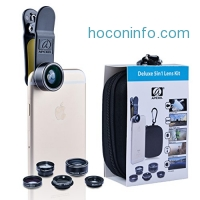 ihocon: Apexel 5 in 1 HD Camera Lens Kit (Fisheye, Wide Angle, Macro, 2X Telephoto, CPL Lens)手機鏡頭