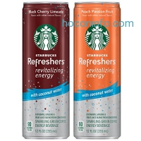 ihocon: Starbucks Refreshers with Coconut Water, 2 Flavor Variety Pack, 12 Ounce Cans, 12 Pack