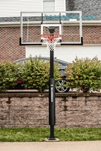 ihocon: Silverback In-Ground Basketball System with Tempered Glass Backboard