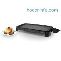 ihocon: BLACK+DECKER GD2011B Family Sized Electric Griddle, 20 x 11-Inch 電烤盤